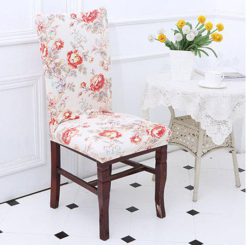 Floral Pattern Stretch Elastic Removable Chair Cover - COLORFUL