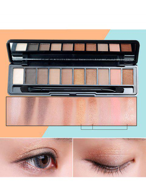 10 Colors Beauty Makeup Eyeshadow Platte With Brush - 03