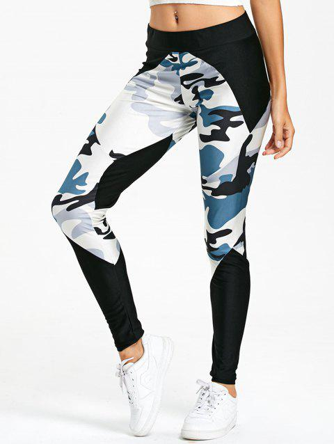 Camo Panel Leggings - COLORMIX M
