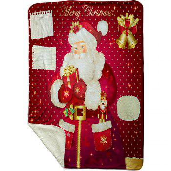 Christmas Santa Gift Pattern Soft Fleece Blanket - RED W39.4INCH*L59.1INCH