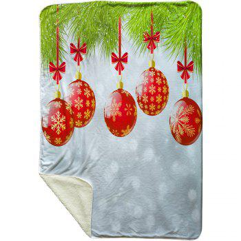 Christmas Baubles Pattern Soft Fleece Blanket - COLORMIX W59 INCH * L79 INCH