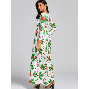 Christmas Berries Print Maxi Dress - XL XL