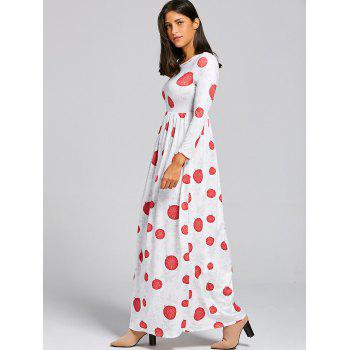 Christmas Snowflake Ball Print Maxi Dress - S S
