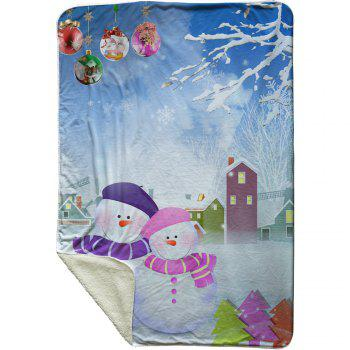 Christmas Snowman Partner Fleece Thermal Blanket - CLOUDY CLOUDY