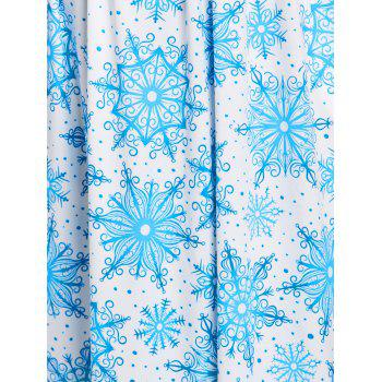Christmas Snowflake Print Maxi Dress - LIGHT BLUE M