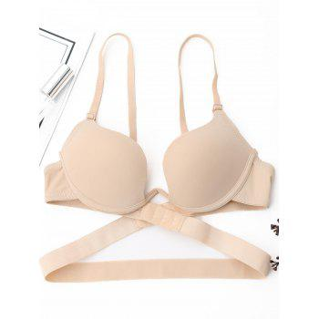Padded Deep Plunge Wrap Bra - COMPLEXION 80B