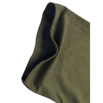Two Tone Half Raglan Sleeve Tee - ARMY GREEN M