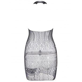 See Through Mesh Bodycon Dress - ONE SIZE ONE SIZE