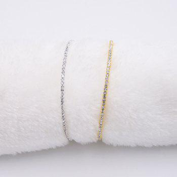 Bracelet en mousse strass en alliage brillant - Or