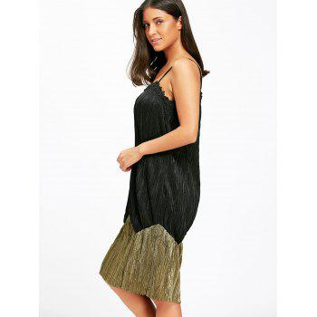 Two Tone Pleated Slip Night Dress - XL XL