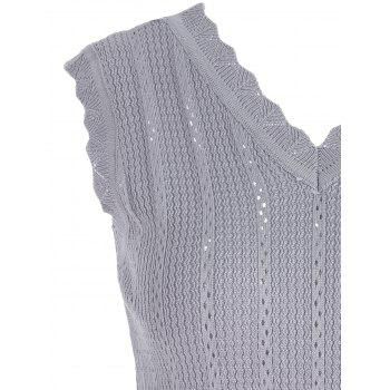 V Neck Knitted Vest - ONE SIZE ONE SIZE