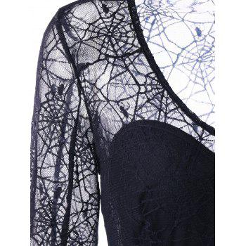 Halloween See Thru Spider Lace Dress - L L