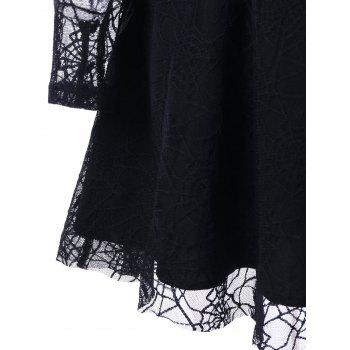 Halloween See Thru Spider Lace Dress - 2XL 2XL