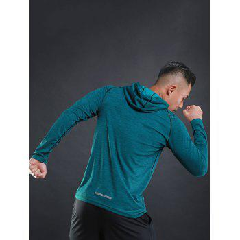 Stretchy Raglan Sleeve Pullover Sports Hoodie - GREEN M