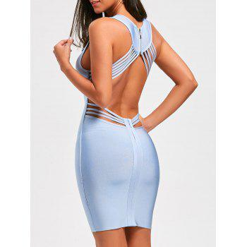Open Back Strappy Bandage Dress