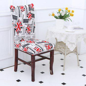 Removable Union Jack Pattern Stretch Elastic Chair Cover - COLORFUL COLORFUL