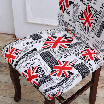 Removable Union Jack Pattern Stretch Elastic Chair Cover -  COLORFUL