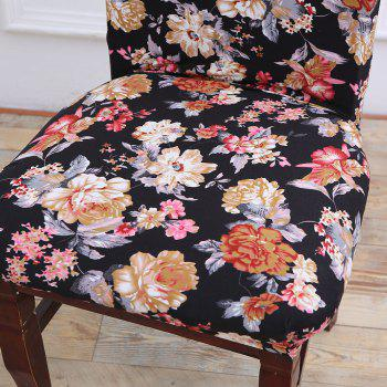 European Style Flowers Pattern Stretch Elastic Removable Chair Cover -  COLORFUL