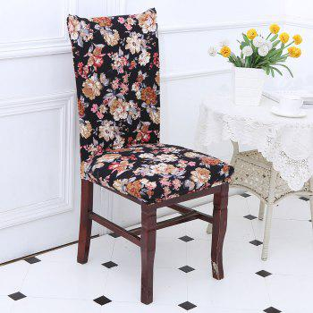 European Style Flowers Pattern Stretch Elastic Removable Chair Cover - COLORFUL COLORFUL