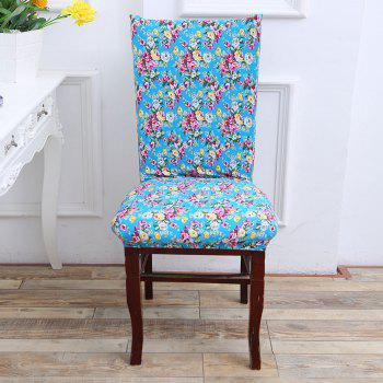 European Floral Pattern Stretch Elastic Chair Cover -  COLORFUL