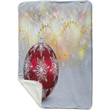 Christmas Ornament Fleece Thermal Blanket - BLUE GRAY W59 INCH * L79 INCH