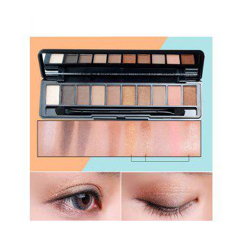 10 Colors Beauty Makeup Eyeshadow Platte With Brush - #03