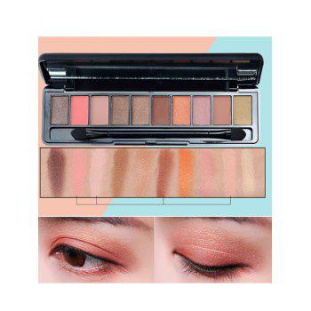 10 Colors Beauty Makeup Eyeshadow Platte With Brush - #04