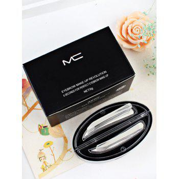 Long Lasting Seal Shaped Eyebrow Powder Kit -  GRAY