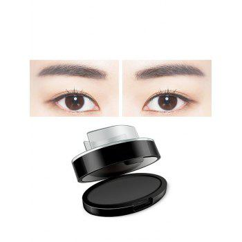 Long Lasting Seal Shaped Eyebrow Powder Kit - GRAY GRAY