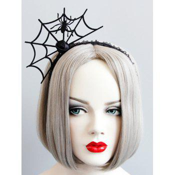 Halloween Spider Web Rose Flower Hairband