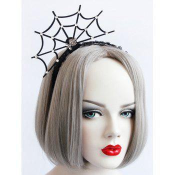 Halloween Spider Web Rose Lace Hairband