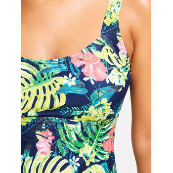 Tropical Print Padded Tankini Set - COLORMIX 2XL
