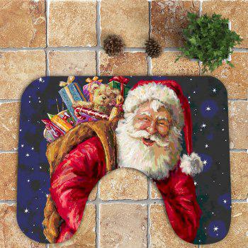 Nonslip Santa Claus and Gift Pattern 3Pcs Bathroom Mats Set - COLORFUL