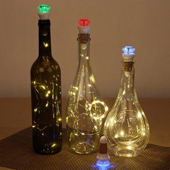 LED String Lights Bottle Stopper and Colorful Night Light -  WHITE