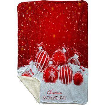 Christmas Snow Pattern Soft Fleece Thermal Blanket - RED W39.4INCH*L59.1INCH