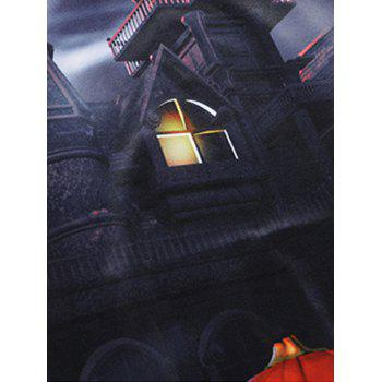 Halloween 3D House Pumpkin Lamp Sweatshirt - COLORMIX 2XL