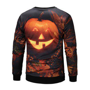 Halloween 3D Pumpkin Lamp Sweatshirt - COLORMIX 2XL