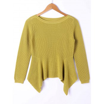 Long Yellow Sweater Cheap Casual Style Online Free Shipping at ...