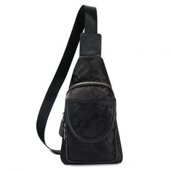 Zip Multi Function Chest Bag - BLACK BLACK