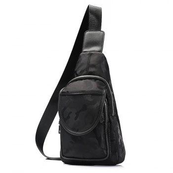 Zip Multi Function Chest Bag -  BLACK