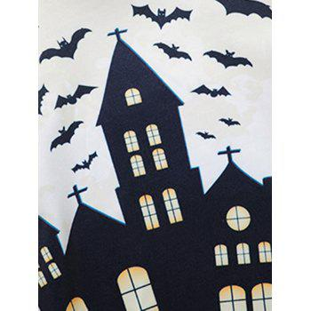 Halloween 3D House Print Sweatshirt - COLORMIX XL