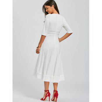Robe à encolure en V - Blanc M