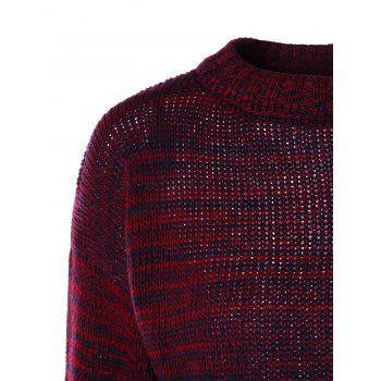 High Neck Sweater with Knitted Skirt - RED RED