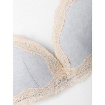Padded Bra Set with Lace - FROST 85B