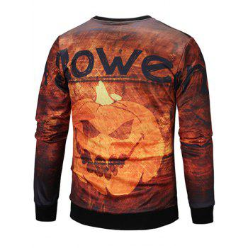 Sweat-shirt Imprimé Lampe Citrouille Halloween - multicolore 2XL