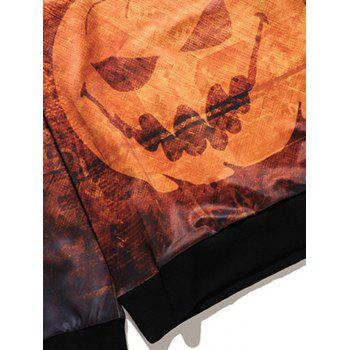 Sweat-shirt Imprimé Lampe Citrouille Halloween - multicolore L