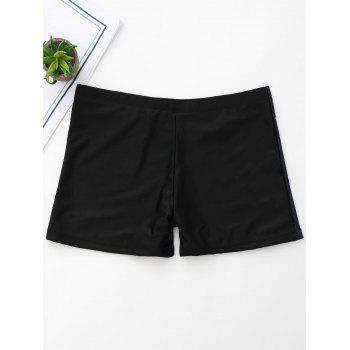 Skeleton Print Halloween Boyshorts - BLACK L