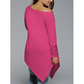 Plus Size Christmas Skew Neck Asymmetrical T-shirt - TUTTI FRUTTI XL