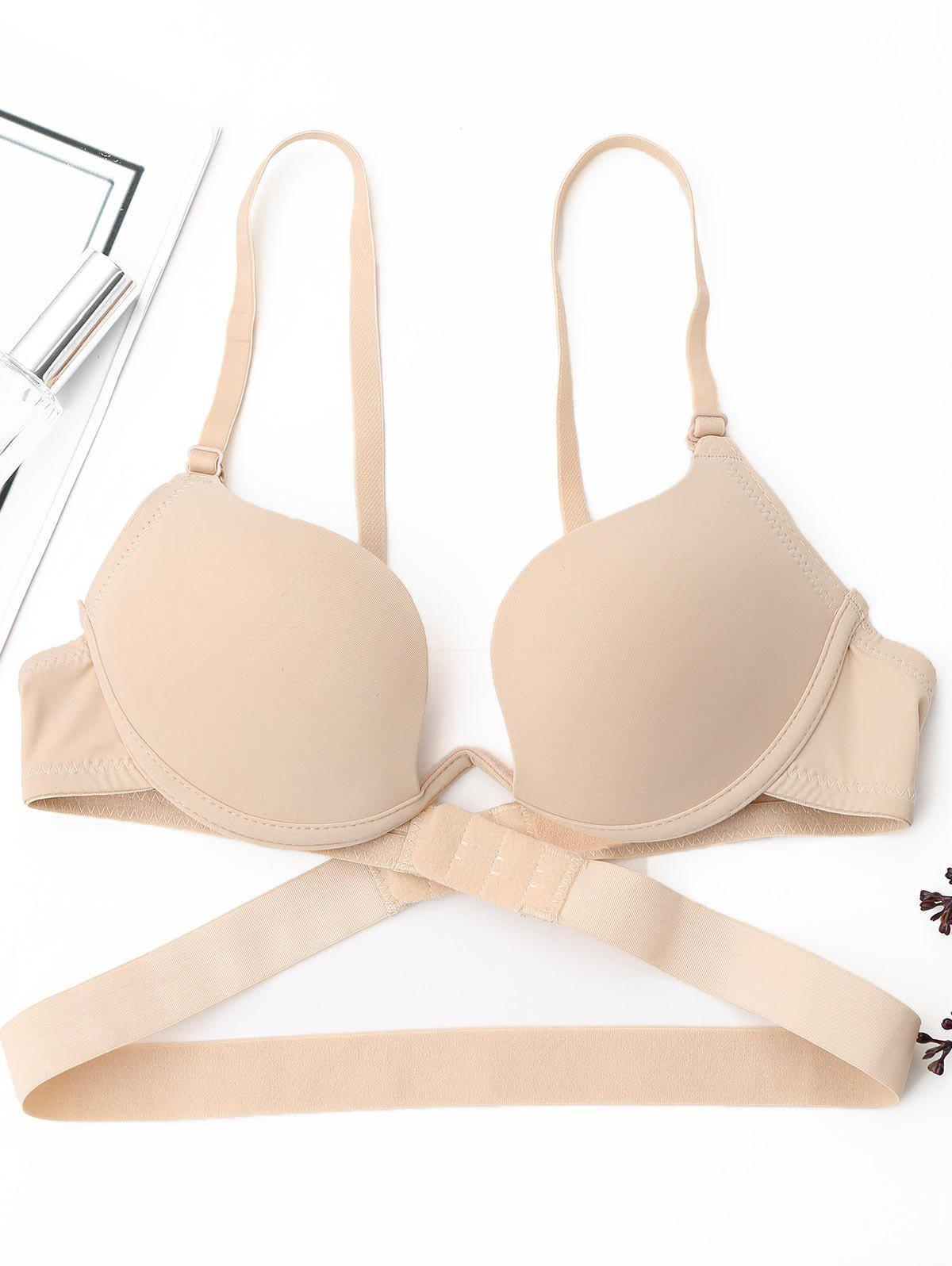 Padded Deep Plunge Wrap Bra - COMPLEXION 75B
