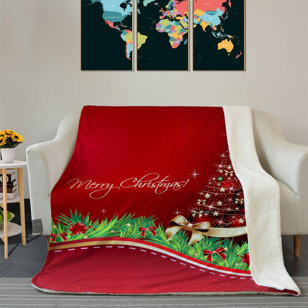 Christmas Star Tree Pattern Soft Fleece Blanket - RED W59 INCH * L79 INCH